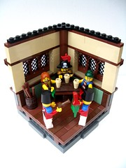 """Nobody move, or the parrot gets it..."" (2 Much Caffeine) Tags: lego pirates parrot pirate tavern vignette arrest moc vig bignette"