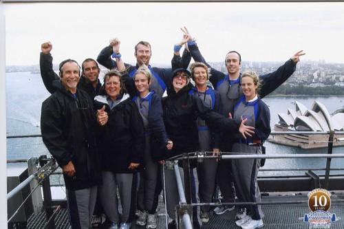 At the top of Sydney Harbour Bridge