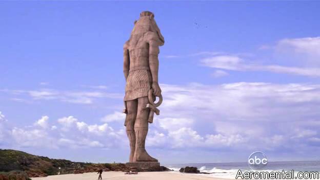 Lost pie de la estatua