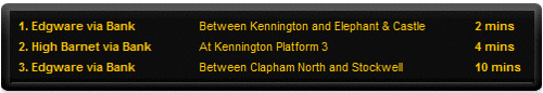 Online London Underground Departure Boards