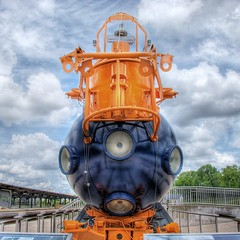 Aluminaut (Sky Noir) Tags: world observation aluminum dive richmond submarine bow record innovation ports hdr scientific sciencemuseumofvirginia smv deepest photomatix aluminaut skynoir bybilldickinsonskynoircom