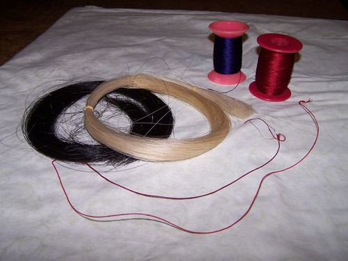 Silk-wrapped horsehair cords