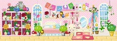 Pet Society: Tea Leaf's Bedroom (Milkdoll (Moved to new account!)) Tags: toys bedroom colorful plushies kawaii facebook tealeaf petsociety