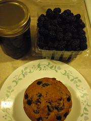 raw, jam, muffin
