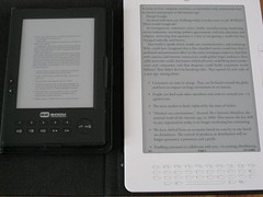 Kindle DX en BeBook