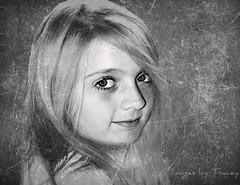 Anna Melissa (Tracey Tilson Photography) Tags: portrait anna white black girl smile photoshop nc eyes nikon north daughter textures carolina pleasant d700 annamelissa pscs4 shanarae florabellacollection