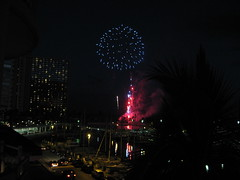 Friday night fireworks from the Hilton