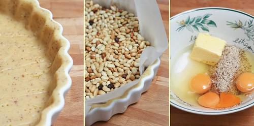 Pâte sucrée et crème d'amande