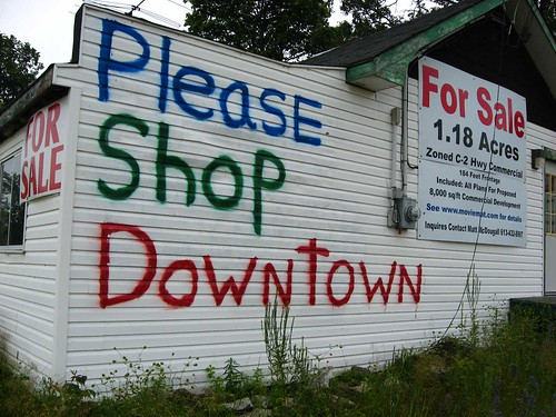 signs ontario sign graffiti walmart sprawl activism smalltown urbanplanning carfree buylocal urbansprawl carculture bigbox smallbusiness