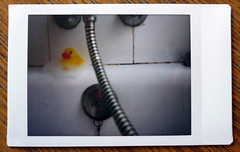 (Sara Soler) Tags: yellow shower duck bubbles amarillo pato ducha espuma jabn cheki fjiinstaxmini