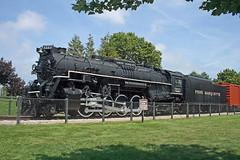 Pere Marquette 1223 (jterry618) Tags: railroad train michigan engine peremarquette berkshire steamengine grandhaven steamlocomotive 284 staticdisplay parkdisplay