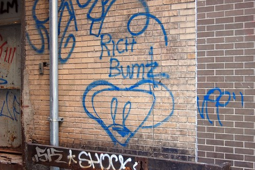 """SERIOUSLY bush-league graffiti"""
