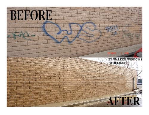 Pressure Washing Graffiti