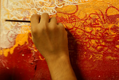 Studio (marciomfr) Tags: world brazil colors painting photography arte rabiscos tag tags 420 canvas calligraphy pernambuco pintura indio nordeste tela tipography petrolina riscos xavante mfr izolag studiotela marciofr