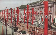 Changing Berlin - 1937 (Jasperdo) Tags: road street old berlin history cars museum germany europe traffic swastika unterdenlinden flags historic banners armory nationalgeographic 1937 colorphoto zeughaus naziparty historicphoto militarymuseum changingberlin finlayphotograph wilhelmtobien