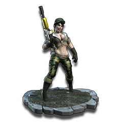 Crash Commando Army Chick