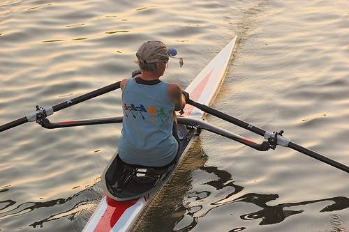 Creve Coeur Lake, in Maryland Heights, Missouri, USA - rower 2