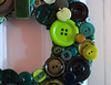 green wreath (craftapalooza) Tags: green button vintagebuttons buttonwreath buttonwreathtutorial
