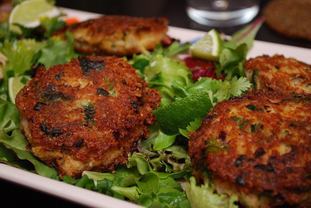 Ginger Crab Cakes Recipe — Dishmaps