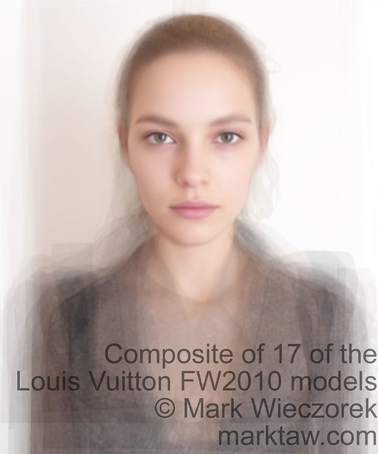 composite of Louis Vuitton FW2010 models without makeup (head cast shots)