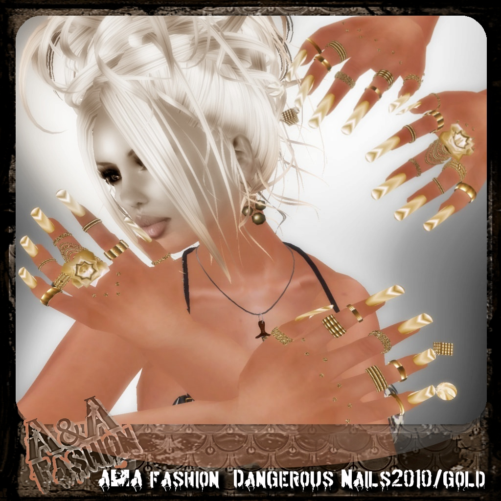 A&A Fashion  Dangerous Nails2010 gold