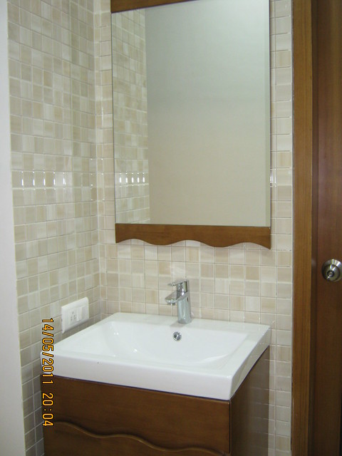 "Washbasin in a 3 BHK ""Show"" Flat in Om Developers' Tropica, Blessed Township at Ravet PCMC, Pune 412 101"