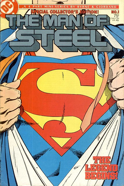 Man of Steel 1 1986 cover by John Byrne