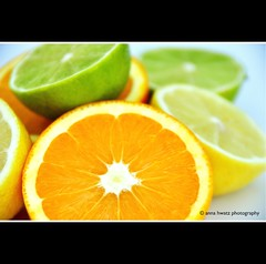 Sweet & Sour [Explored] #45 (AnnaHwatz) Tags: orange green yellow fruit lemon opposite lime explored odc2