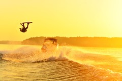 Sunrise Grab (tylersoden) Tags: sun lake nature water sunrise nikon wake action board wakeboarding d4 aport nikond4 onelifeliveit uploaded:by=flickrmobile flickriosapp:filter=nofilter olliphotography afwake growthesport