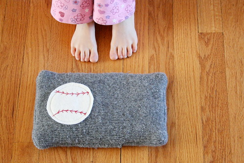 baseball rice snuggle pack