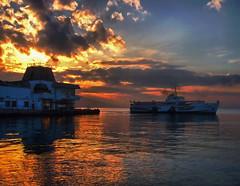 Aegean pearl - zmir (Yener ZTRK) Tags: travel sunset sea sky cloud clouds turkey ship harbour trkiye scenic turquie trkorszg trkei pearl welcome konaksquare konak iskele turkije seaport izmir trk bulut ege liman manzara gnbatm turchia  gemi turkei aegeansea silet goldensea egedenizi turcha trkiyecumhuriyeti konakmeydan aplusphoto flickraward turkqua yenerztrk  t gismeer t tp  t egekrfezi