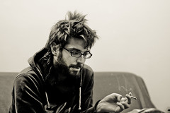 (Fotis ...) Tags: portrait male face friend smoke talk smoking sofa thinking explain analyzing somethingtosay feelingcomfortable yourhelp