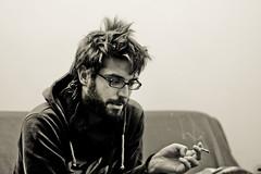 (Fotis ...) Tags: portrait male face friend smoke talk smoking sofa thinking explain analyzing somethingtosay feelingcomfortable yourhelp