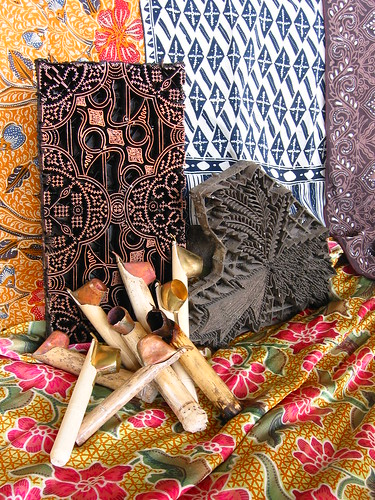 my collection of batik tulis and paraphernalia
