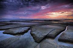 Toothed (Garry - www.visionandimagination.com) Tags: ocean morning blue red seascape water rock sunrise landscape dawn coast oz australia qld aus sunshinecoast toothed theperfectphotographer gemsofnature sensationalphoto wwwvisionandimaginationcom
