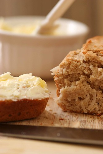 coconut bread with sweet pineapple butter