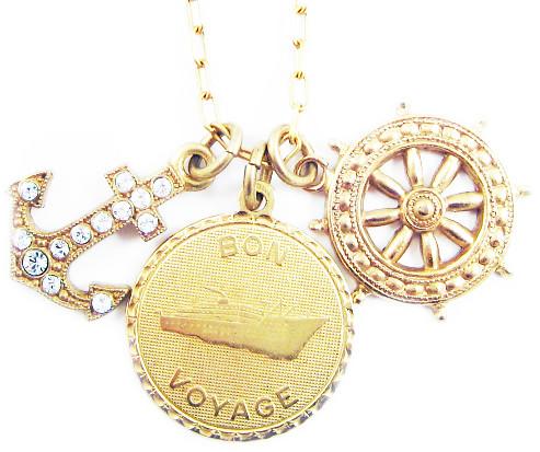KristenGrace.com Bon Voyage Charm Necklace