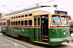 PCC Trolley (Harpo42) Tags: green philadelphia yellow wire tracks historic neighborhood pa philly fairmount septa oldfashioned pcc artmuseumarea girardavenue february282009