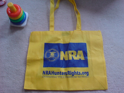 NRA totebag from CPAC >> sweet diaper bag?