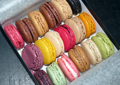 Macarons Ladure : la totale (yad.craby) Tags: orange brown white black colour green coffee caf rose yellow lemon purple chocolate violet macaroon mango pistachio raspberry chestnut vanilla lime liquorice marron cassis blackcurrant citron couleur hazelnut chocolat framboise mangue macaroons pralin macarons vanille macaron rglisse violette pistache ladure griotte citronvert bitterchocolate morellocherry fleurdoranger caramelbeurresal chocolatamer orangeblossomessence caramelsaltybutter