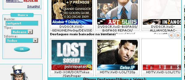 Buscando no legendas.tv