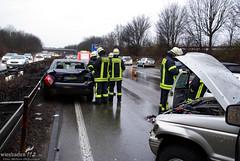 Unfall im Rückstau B455 06.03.09