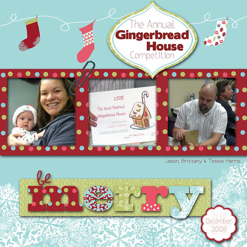 Be Merry 12x12 Layout