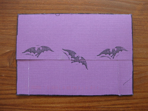 Bat card envelope, back