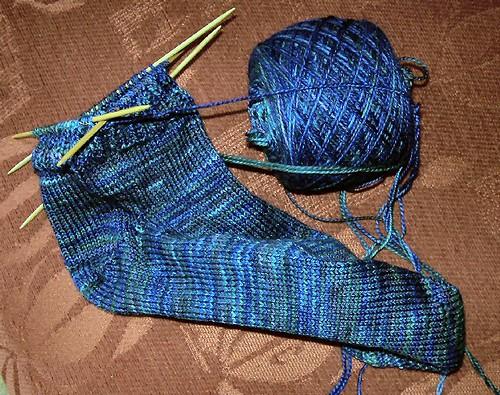 fleece artist sock