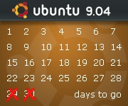Ubuntu 9.04 Countdown Banner Option 2