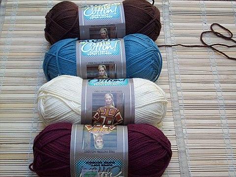 Twirly Skirt, the yarn
