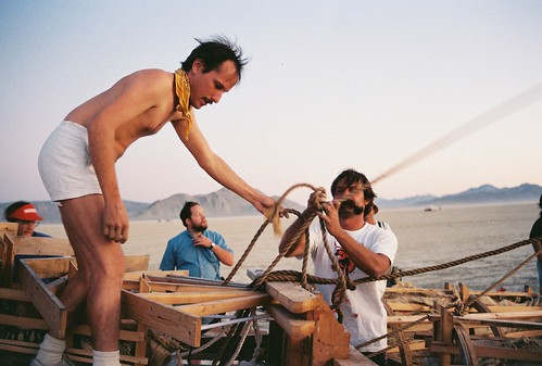 Working at Burning Man 1990