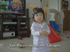 changing diaper (pkoarmy) Tags: baby diaper changing sue