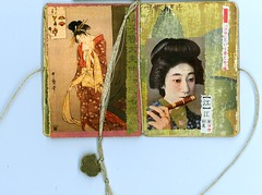 The Teahouse of the August Moon - Spread 3 (Imajica Amadoro) Tags: art collage ink paper book asia acrylic mixedmedia bookart artistsbooks mommsen catherinelmommsen